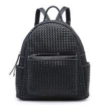 Women Backpack Purse Woven Trendy Stylish Casual Dayback Handbag