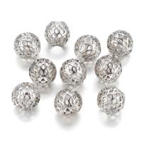 Kissitty 50Pcs Antique Silver Large Hole European Beads 10x8mm Rondelle with Grid Pattern Hollow Spacers for for DIY Jewelry Necklace European Charm Bracelet Making