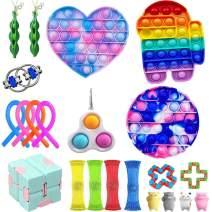 Yoskog Sensory Fidget Toys Set, Anti-Stress Fidget Toy Set, Cheap Fidget Toy Set, Fidget Toys Pack, Fidget Toy Set, Stress Relieve for Kids Adults Toy Set (Fidget Toy Set-B)