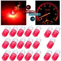 cciyu 20 Pack 194/168/T10 Warm White 12V 5W Side Marker Clearance Light Halogen Bulb (red)