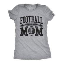 Crazy Dog T-Shirts Womens Football Mom Tshirt Cute Sports Parent Tee for Ladies