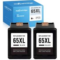 myCartridge Remanufactured Ink Cartridge Replacement for HP 65XL 65 Work with HP Envy 5052 5055 Deskjet 3755 3752 2655 2652 2635 3720 3721 3722 3723 3730 2622 2624 (2 Black)