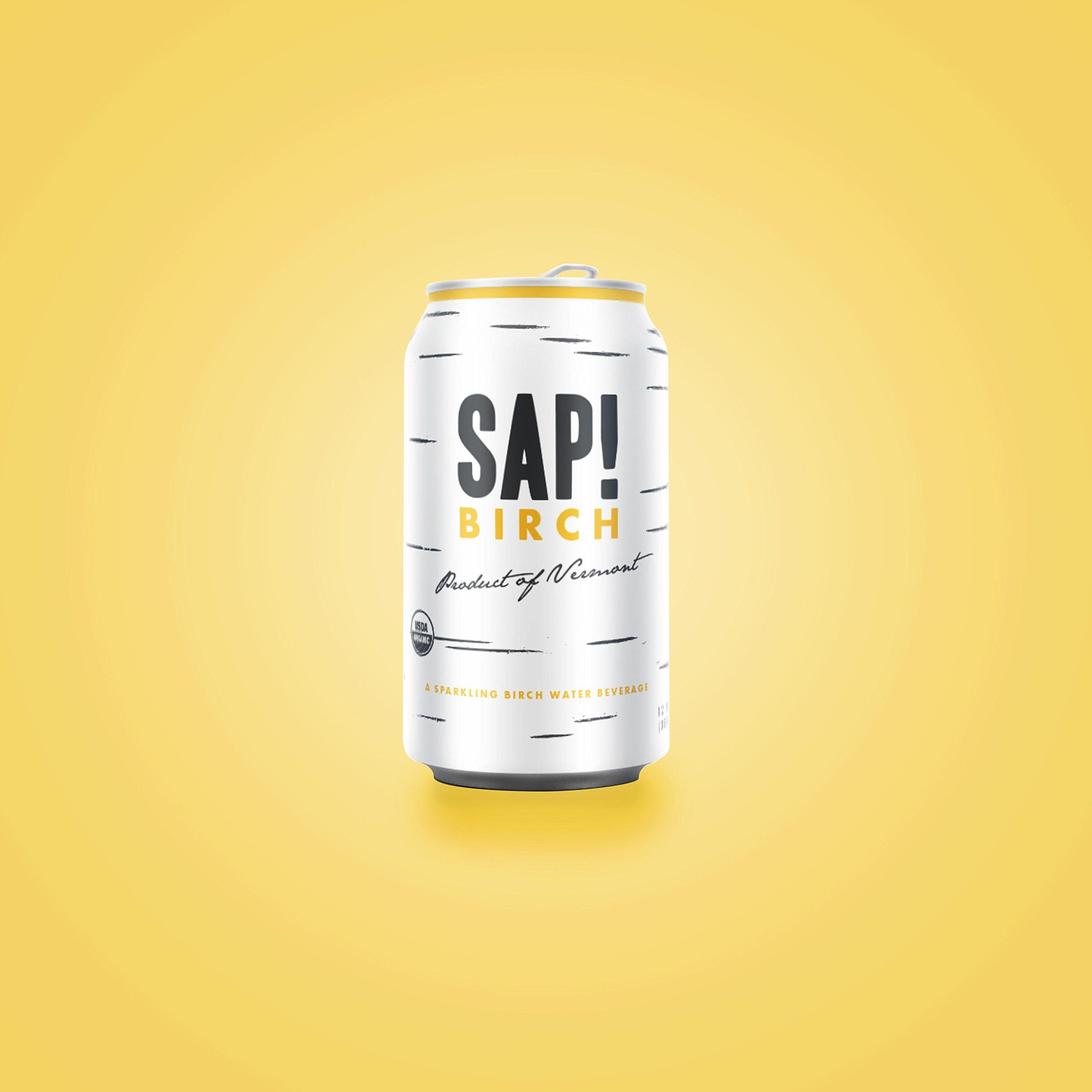 Sap! Birch Sparkling Soda Water – Case of 24 – USDA Organic Gluten Free Non-GMO – Delicious alternative with only 25 calories – low glycemic and contains electrolytes and natural nutrients