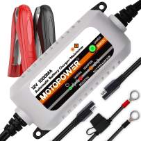 MOTOPOWER MP00205B 12V 1000mA Automatic Battery Charger Maintainer