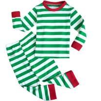 FANCYINN Boys and Girls Long Sleeve Pajamas St Patricks Day Elf Outfit Kids 2pc Matching Sets Cotton Pjs 1-5T