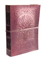 Embossed Large Tree Notebook Leather Journal Diary Celtic Tree of Life Book of Shadows Blank Spell Book Wicca for Writing Leather Diary Handmade Christmas Sale
