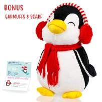 Penguin stuffed animals - Cute, Soft and Cuddly Penguins Plush Animals Toy. Great Gifts for Baby Showers, Birthdays, Valentines or Christmas. Pre Wrapped w/ Adorable Scarf and Knitted Winter hat