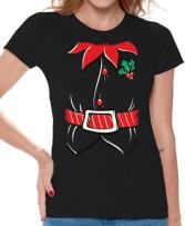 Awkwardstyles Women's Elf Costume T-Shirt Santa Holiday Christmas Shirt
