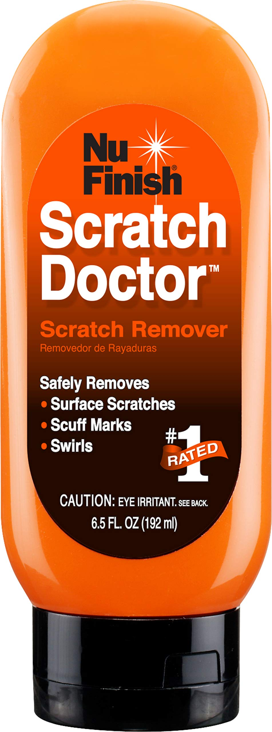 Nu Finish Car Scratch Remover, Scratch Removal for Cars - Perfect for Removing Paint Scrapes, Scuffs, Haze and Swirl Marks on Cars, Fiberglass Boats, Motorcycles and Chrome Appliances