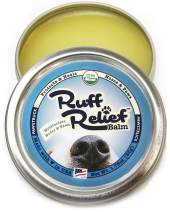 Organic Nose & Paw Wax Balm for Dogs | 100% Natural, Made in USA, USDA Certified Soother | Snout & Foot Pad Ointment Cream Moisturizer for Dry Cracked K9 or Puppy Skin | Ruff Relief Paw Protection