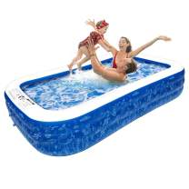 """Inflatable Swimming Pool, 95"""" X 56"""" X 20"""" Full-Sized Family Pool, Kiddie Pool, Blow Up Pool for Baby, Kids, Kiddie, Adult Inflatable Pool for Backyard, Outdoor, Garden, Ground & Summer Water Party"""