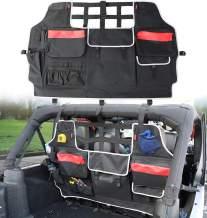 Sukemichi Jeep Wrangler JK JL Backseat Organizer Storage Bag, Pet Dog Barrier for Jeep JK JL Sahara Rubicon 4 Doors 2007-2020