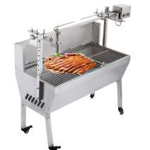 VEVOR 132 lbs/60KG 110V 132 lbs/60KG Rotisserie Grill Roaster BBQ Pig Lamb Stainless Steel, 132 lbs/60KG