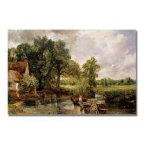 The Hay Wain by John Constable, 22x32-Inch Canvas Wall Art