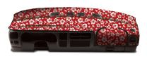 Coverking Custom Fit Dashcovers for Select Chevrolet Models - Velour(Hawaiian Red)