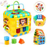 BBLIKE Baby Activity Cube for Toddlers, 6 in 1 Multipurpose Activity Play Center, Educational Toy for 1 2 3 Years Old Boys and Girls