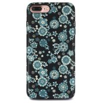 iPhone 7 Plus Case for Girls/iPhone 8 Plus Floral Case, GOLINK Floral Series Matte Finish Slim-Fit Anti-Scratch Shock Proof Anti-Finger Print Flexible TPU Gel Case for iPhone 7/8 Plus - Floral 17
