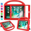 """AVAWO Kids Case for New iPad 9.7"""" 2018 & 2017 & iPad Air 2 - Built-in Screen Protector Shockproof Case Convertible Stand with Handle for iPad 9.7 Inch (2018 6th Gen) & (2017 5th Generation) - Red"""