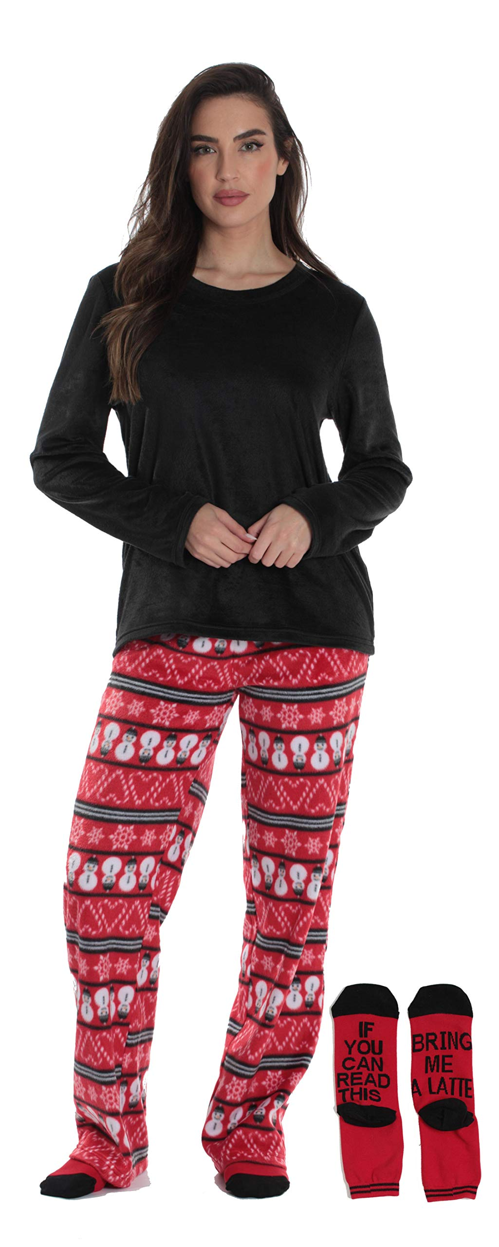 Just Love Ultra-Soft Women's Pajama Pant Set - Nightgown with Matching Socks