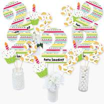 Big Dot of Happiness Taco Twosday - Mexican Fiesta Second Birthday Party Centerpiece Sticks - Table Toppers - Set of 15