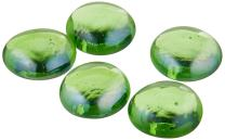 American Fireglass Fire Beads Fireplace Glass and Fire Pit Glass, 10-Pound, Emerald Green Luster