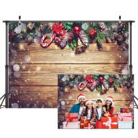 Dudaacvt 7×5ft Christmas Backdrop Christmas Decoration on Wooden Backdrops Adult Child Portrait Photo Studio Booth D216