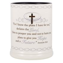 Elanze Designs for I Know The Plans I Have for You Ceramic Stone Electric Large Jar Candle Warmer