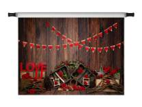 Kate 10x6.5ft Happy Valentine's Day Love Photo Backdrops Vintage Wood Lovers Photography Props