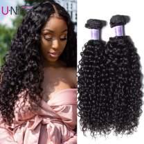 UNice Hair Kysiss Series Brazilian Curly Hair 3 Bundles Virgin Hair Weave 100% Unprocessed Human Hair Extensions Natural Color (20 22 24)