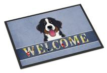 Caroline's Treasures BB1423MAT Bernese Mountain Dog Welcome Indoor or Outdoor Mat 18x27, 18H X 27W, Multicolor