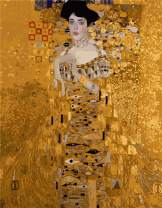MTinHD 16x20 Paint by Numbers for Adults DIY Oil Painting with Wooden Framed Klimt - Mrs. Bauer