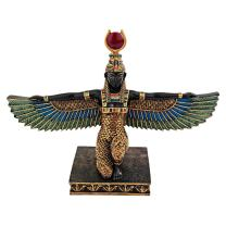 Design Toscano QL12219 Isis Goddess of Beauty Egyptian Decor Statue, 9 Inch, Full Color