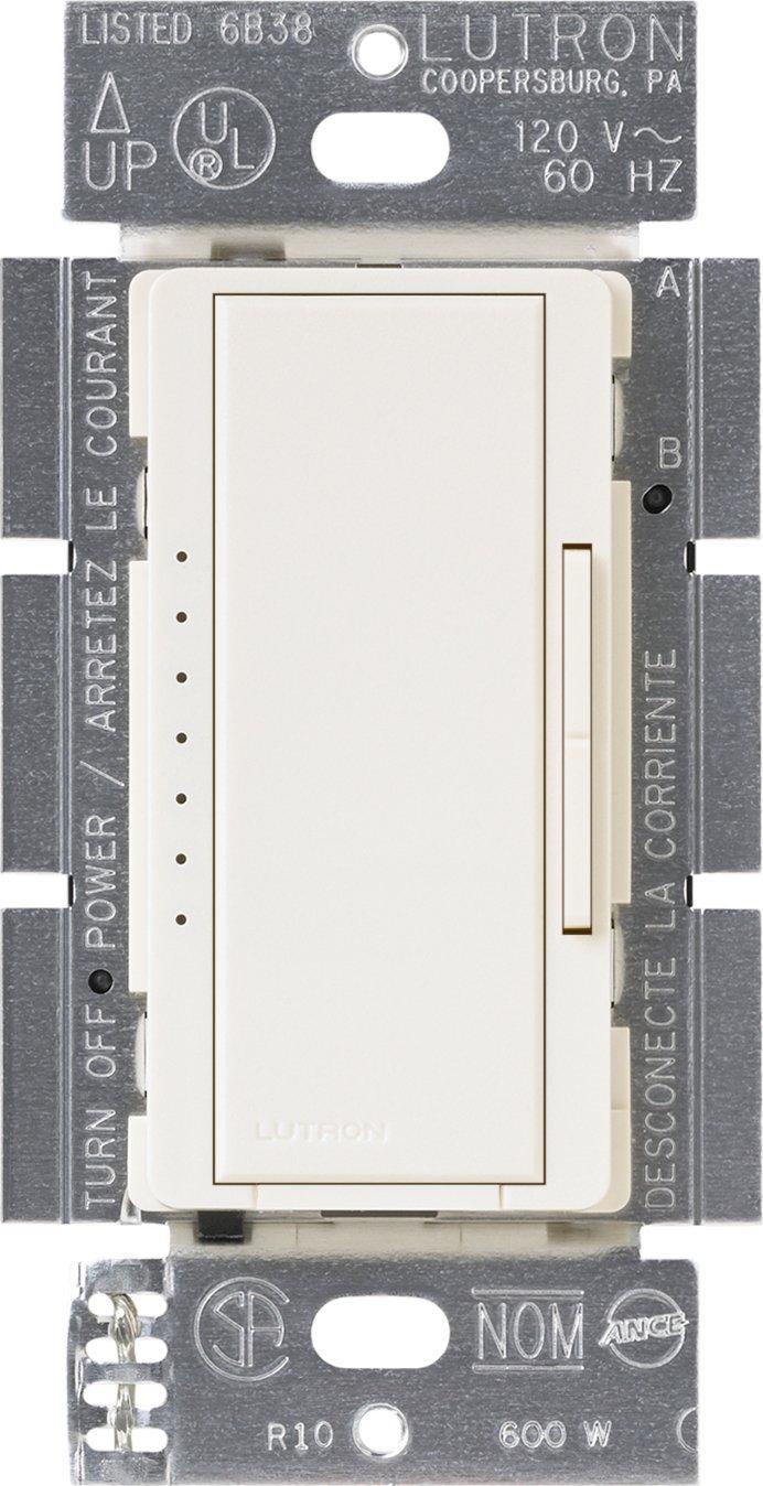 Lutron Maestro Electronic Low Voltage Digital Fade Dimmer Switch, Multi-Location, 600-Watt, MSCELV-600M-BI, Biscuit