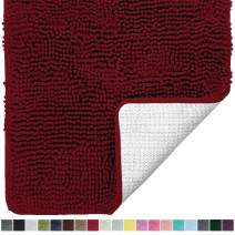 Gorilla Grip Original Luxury Chenille Bathroom Rug Mat, 36x24, Extra Soft and Absorbent Shaggy Rugs, Machine Wash and Dry, Perfect Plush Carpet Mats for Tub, Shower, and Bath Room, Burgundy