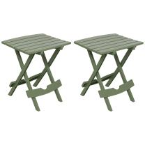 Adams Manufacturing 8500-01-4702 Quik-Fold Side Table, Sage/2 Pack