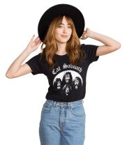 Headline Shirts - Funny Cat Graphic Tees - Screen Printed Crewneck T-Shirt for Female
