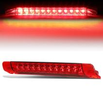 Red Housing LED High Mount 3rd Third Tail Brake Light Replacement for Toyota 4Runner 10-16 / Highlander 14-16