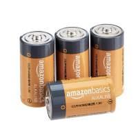 AmazonBasics C Cell 1.5 Volt Everyday Alkaline Batteries - Pack of 4