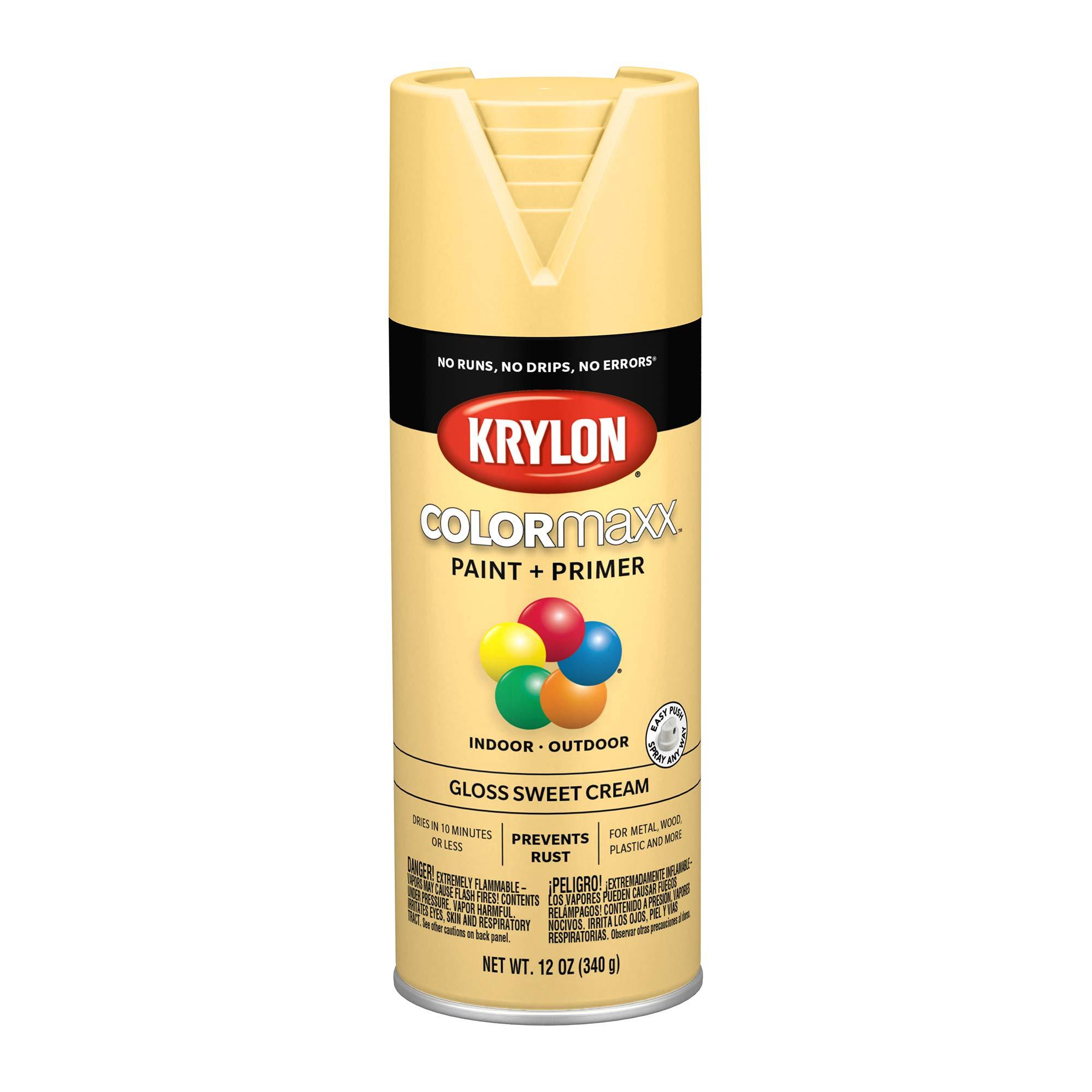 Krylon 5542 K05542007 COLORmaxx Primer Spray, Sweet Cream-12 Ounce Aerosol Paint