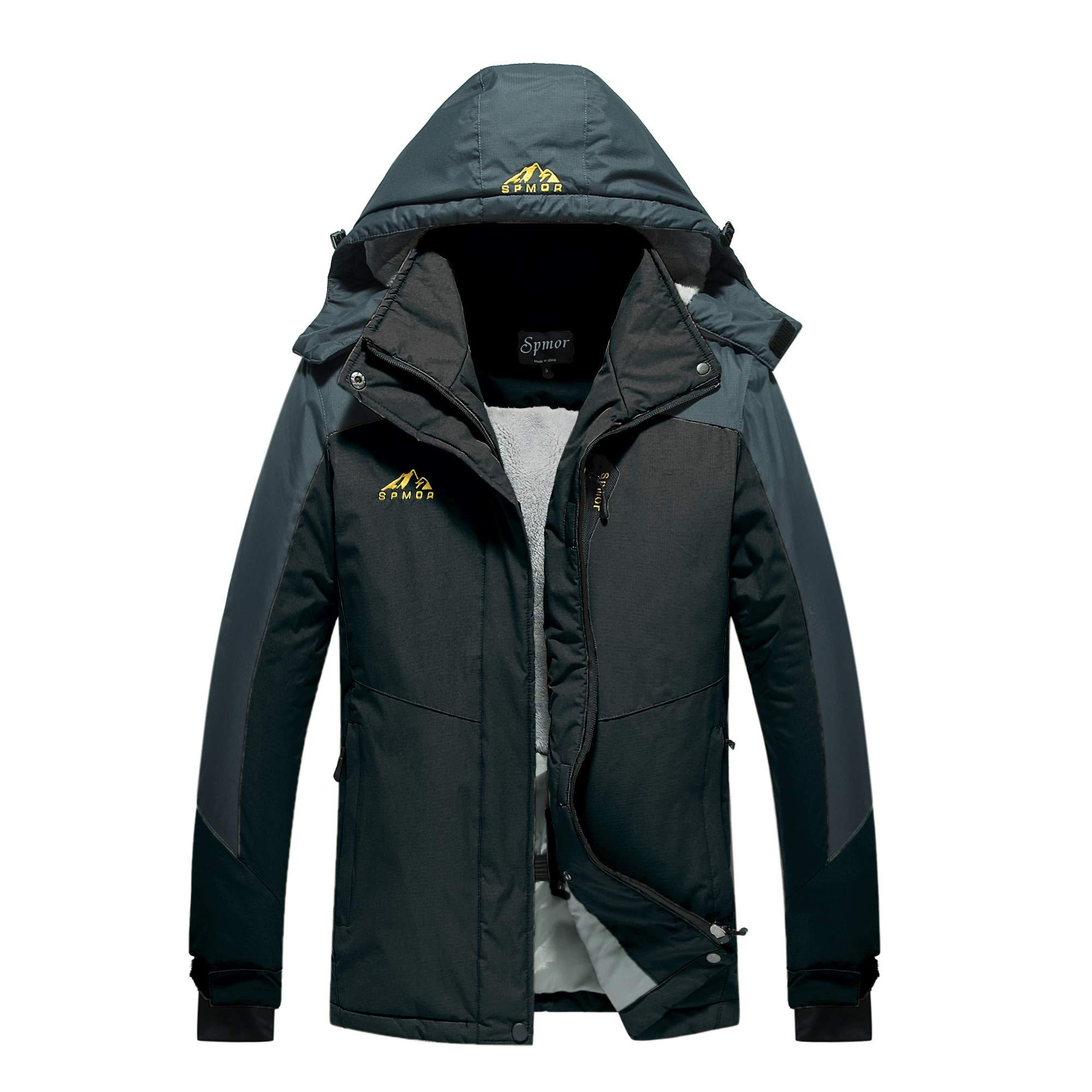 Spmor Women's Waterproof Ski Jacket Mountain Rain Winter Coat Windproof Skin Hooded Jacket