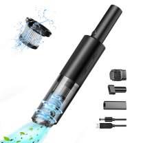 Car Vacuum Cordless, Portable Car Vacuum Cleaner High Power 6Kpa HEPA Filter USB Rechargeable Ultra-Light 0.88lb Mini Handheld Vacuum Cleaner for Home/Office/Car/Pet Hair,Wet Dry Use 2021 Black