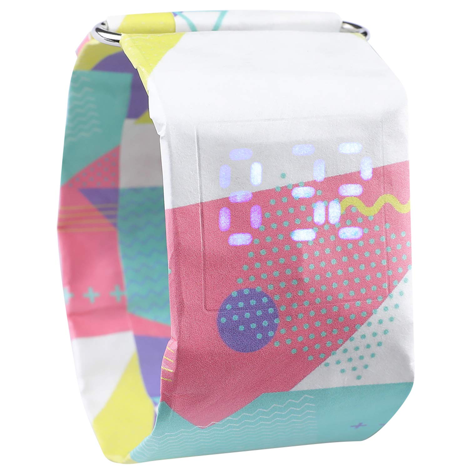 Paper Watch, Waterproof Colorful LED Handmade Digital Wrist Watch Super Light Durable with Magnetic Best Gift for Men,Women,Girls,Boys,Students