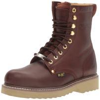 """AdTec Men's 1312 8"""" Steel Toe Farm Redwood Work Boot"""