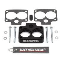 BlackPath - Fits Grand Cherokee ZJ WJ Throttle Body Spacer Kit Jeep ZJ 5.2L + 5.9L Engines (Black) T6 Billet