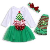 Christmas Newborn Baby Girls Fall Dresses Outfits My First Christmas Letter Tutu Dress Skirt Clothes Set