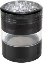 "Zip Grinders Mega Crusher Upgraded Extra Large Herb Grinder, 2.5"" x 3.5"", Black"