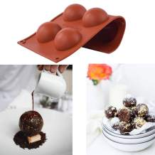 2 Pack Silicone Sphere Mold For Chocolate, Cake, Jelly, Pudding, Handmade Soap, Round Shape, Dome Mousse Half Sphere Silicone Baking Molds