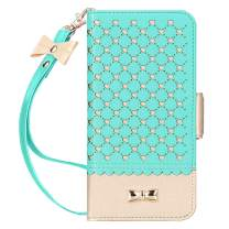 Jasilon iPhone 11 Pro Max Case Cover 6.5'' 2019, [Deluxe Love] Premium Leather Wallet case with [Card Holder, Strap, Kickstand, Mirror], Flip Folio iPhone 11 Pro Max Phone Case for Women-MintGreen