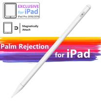 Stylus Pen Compatible with iPad Palm Rejection Active Rechargeable Digital Pencil with Fine Point Magnetic Design Compatible for iPad 6th 7th Gen iPad Pro iPad Air 3rd Gen iPad Mini 5th Gen (White)