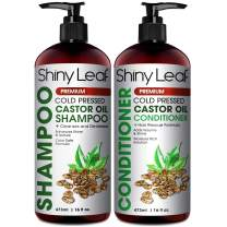Castor Oil Shampoo and Conditioner For Hair Growth, With Organic Castor Oil, Sulfate Free, Curly Hair Approved, Safe for Color Treated Hair, Repair Hair Damage 16 Fl. Oz.